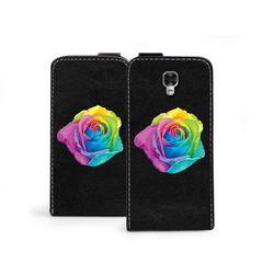 Flip Fantastic - LG X Screen - etui na telefon Flip Fantastic - kolorowa róża