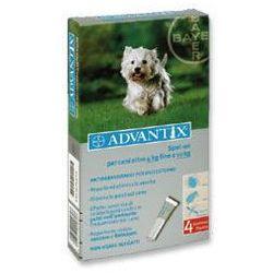 Advantix - dla psów 4-10kg (4 pipety x 1ml) | Darmowa dostawa - 4-10kg