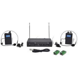 vidaXL Odbiornik z dwoma bezprzewodowymi słuchawkami mikrofonem VHF Darmowa wysyłka i zwroty