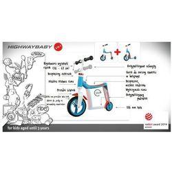 SCOOT & RIDE Hulajnoga i rowerek, Highwaybaby 2 w 1, niebiesko-czerwony,