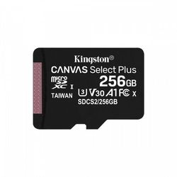 Kingston karta pamięci microsd 256gb canvas select plus 100/85mb/s adapter
