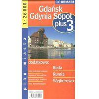 Gdańsk Gdynia Sopot plus 3 1:26 000 plan miasta (opr. miękka)