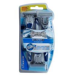 Wilkinson Sword Quattro Titanium jednorazowe maszynki do golenia 3 szt. + do każdego zamówienia upominek.