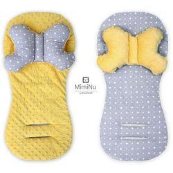 Komplet Minky, poduszka podróżna antywstrząsowa Motylek