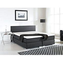 Łóżko kontynentalne 160x200 cm - Łóżko tapicerowane - PRESIDENT czarne