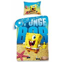 Dziecięca pościel bawełniana Spongebob 0012, 160 x 200 cm, 70 x 80 cm