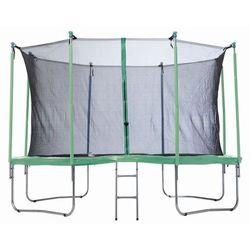 PLATINIUM 366 cm - Zestaw trampoliny z siatką zabezpieczającą - zielony
