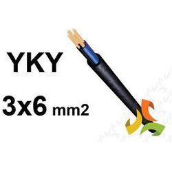 KABEL YKY 3x6mm2 PRZEWÓD ZIEMNY MIEDZIANY