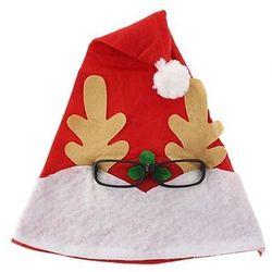 Czapka świąteczna Renifer w okularach 30x42 cm