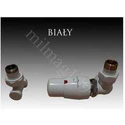 Zestaw zaworów grzejnikowych termostatycznych MASTER prawy BIAŁY