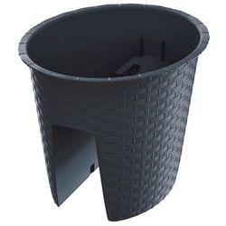 Donica Balkonowa 298 X 242 Cm Na Balustradę Antracytowa Ratolla Oval Prosperplast
