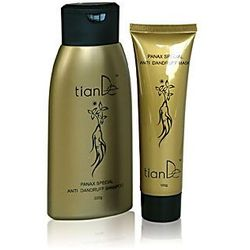 Zestaw z ekstraktem z żeń-szenia: szampon (220 g) + maska (100 g) TianDe