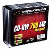 CD-RW ESPERANZA [ slim jewel case 10 | 700MB |