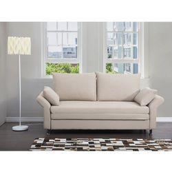 Sofa do spania bezowa - kanapa - rozkladana - wypoczynek - EXETER