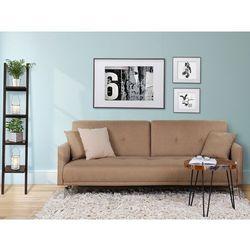 Sofa z funkcją spania beżowa - kanapa rozkładana - wersalka - LUCAN