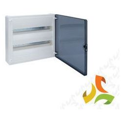Rozdzielnica,rozdzielnia elektryczna 36 modułów natynkowa tworzywo, drzwi transparentne HAGER VS218TD