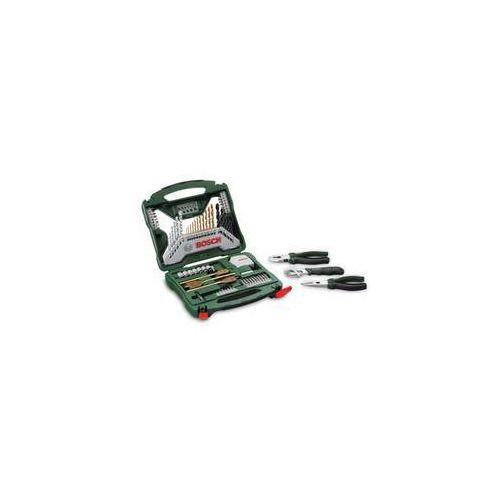 Zestaw wierteł i bitów Bosch 70 częściowa X-Line Ti + narzędzia ręczne