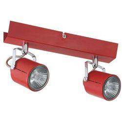 LOFT - Listwa z 2 lampami punktowymi Czerwona