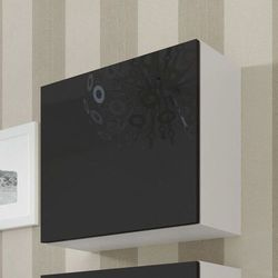 VIGO szafka wisząca na wysoki połysk - czarny ||biały