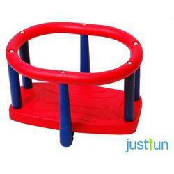 Huśtawka kubełkowa LUX - czerwono-niebieski