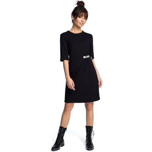 d4342cbdb5 B066 Sukienka z klamrą czarna - porównaj zanim kupisz