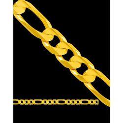 60cm łańcuszek złoty figaro