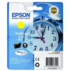 Epson oryginalny ink C13T27044020, 27, yellow, 3,6ml, Epson WF-3620, 3640, 7110, 7610, 7620