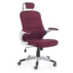 Krzeslo biurowe bordowe – fotel biurowy – obrotowy - siatka - PREMIER