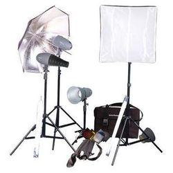 Powerlux zestaw VL-Pro: 4x lampa, 4x statyw, 3x parasolka, softboks i akcesoria Dostawa GRATIS!