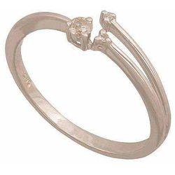 Pierścionek z białego złota z brylantami 24377