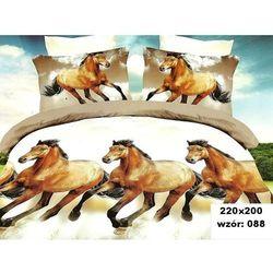 Komplet Pościeli 200x220 Pościel 3D Konie 6cz 087 - 088