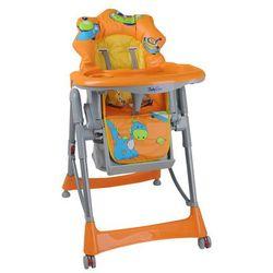 Pomarańczowe krzesełko do karmienia - Dino