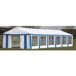 vidaXL Pawilon ogrodowy 12x6m (dach+penele boczne), niebiesko-biały Darmowa wysyłka i zwroty
