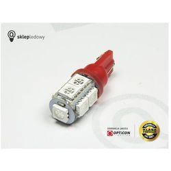 Żarówka 24V Led 9x SMD5050 W5W T10 Czerwony