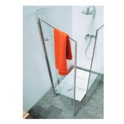 Drzwi prysznicowe Flaminia Bamboo szkło: kryształ, profil: chrom, szer. do 90 cm 50B90
