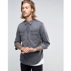 Lee Rider Western Denim Shirt Dark Focus - Grey