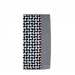 Kela LADESSA TONE Ręcznik Łazienkowy 50 x 100 cm Szary/Czerwony