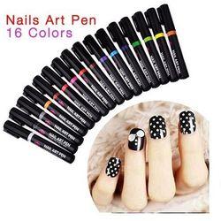 Nail Art Pen Mazak do zdobienia paznokci Nr 15 Jasno Zielony 7ml - Nr 15 Jasno Zielony
