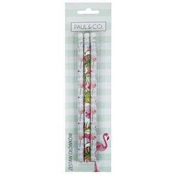 Zestaw ołówków z gumką 3 sztuki flamingi
