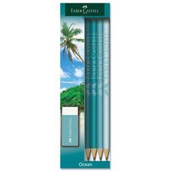 Zestaw 4 ołówków + gumka Faber-Castell