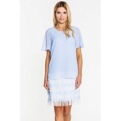 8f1602498093fb suknie sukienki olowkowa sukienka z opadajacym ramieniem jeansowa ...