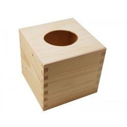Chustecznik drewniany kwadratowy z zasuwą