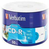 CD-R VERBATIM 700 MB 52x Cake Box 50 szt.