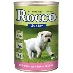 Rocco Junior, 6 x 400 g - Wołowina z wapniem 122828