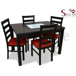 Zestaw HAWELA I 4 krzesła i stół 80x120/150
