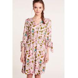 8b41c06ca4 ... (suknie sukienki rozowa slodka marszczona japonska sukienka) we  wszystkich kategoriach. Różowa sukienka w kwiaty