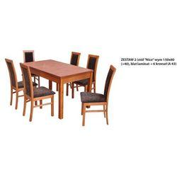 Zestaw Ares 2 Stół 80x150 do 190 + 6 Krzeseł A43