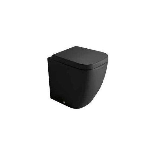 Globo Stone Miska wc stojąca - czarna błyszcząca SSN01.NE