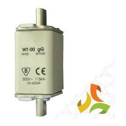 Wkładka topikowa zwłoczna gg WT-00 125A, bezpiecznik przemysłowy ETI