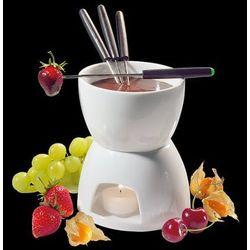 Cilio Zestaw do fondue czekoladowego Biały